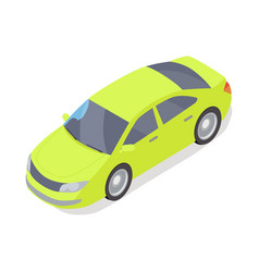 personal car icon in isometric projection vector image vector image