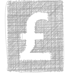 Pound sign - freehand symbol vector