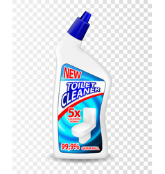 realistic template toilet cleaner gel package vector image vector image