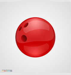 red shiny and clean bawling ball vector image