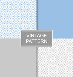Seamless diamond vintage pattern vector