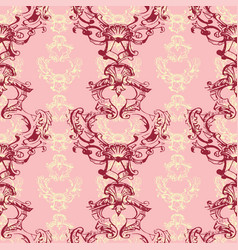 Seamless pattern with ornamental vintage flowers vector