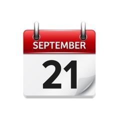 September 21 flat daily calendar icon vector