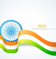 Shiny indian flag design vector