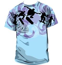 Skater T-shirt vector image