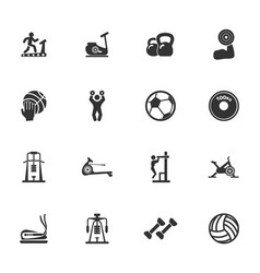 Sport equipment icons set vector