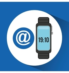 Wearable technology mail design vector
