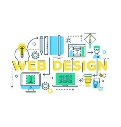 Web Design Work Process vector image vector image