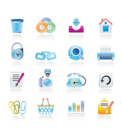 Website and internet icons vector