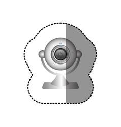 White computer camera icon vector