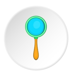 Magnifier icon cartoon style vector