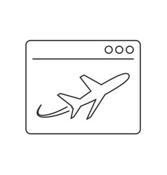 Landing page line icon vector