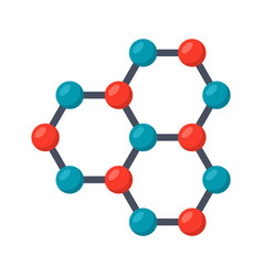 Nanotechnology icon vector