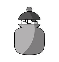 Sugar pot with cubes vector