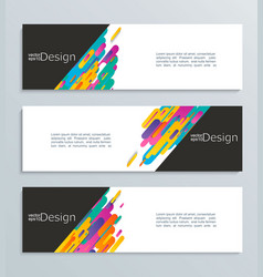 Web banner for your design header template vector