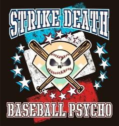 Baseball psycho vector