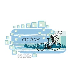 I love cycling banner vector