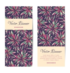 Banners cards brochures set floral vector