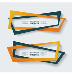 Colorful origami ribbons Place your text here vector image