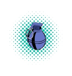 Grenade comics icon vector