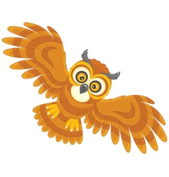 Night owl flying vector image