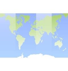 World map Flat design vector image