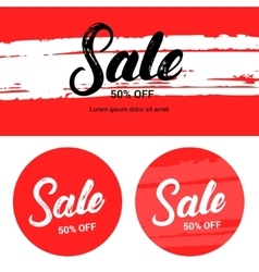 Sale up to 50 percents off banner set vector