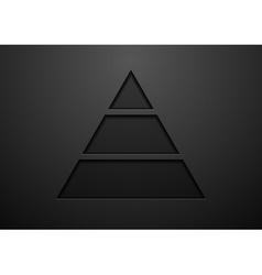 Abstract black geometric concept design vector