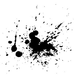 Black ink paint explosion splatter artistic cover vector