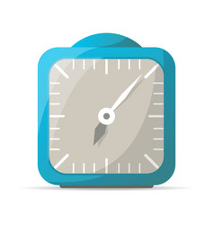 blue analog alarm clock icon vector image vector image