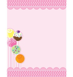 cake pops vector image