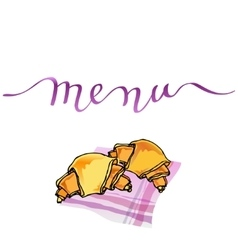 Calligraphy menu card vector