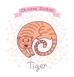 Chinese zodiac - tiger vector