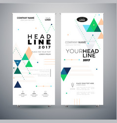corporate banner - set of modern template vector image vector image