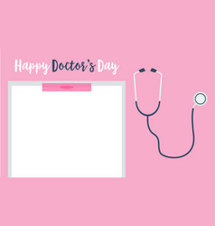 Doctor day card style collection vector
