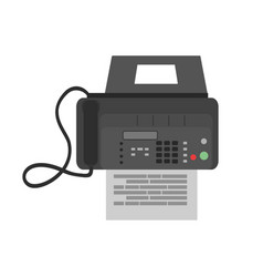 fax icon business phone office web machine vector image vector image