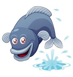 Fish jump vector image vector image