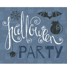 Halloween party vintage grunge poster vector
