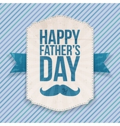 Happy fathers day realistic banner with ribbon vector