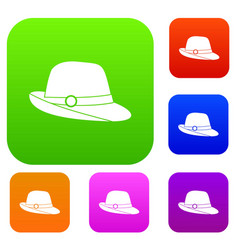 hat set collection vector image vector image