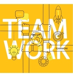 Infographic of teamwork concept vector