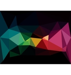 Low poly background abstract dark diamond vector