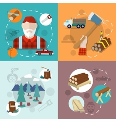 Lumberjack woodcutter composition vector
