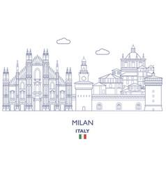 milan city skyline vector image