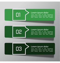 Modern design template from paper vector image vector image