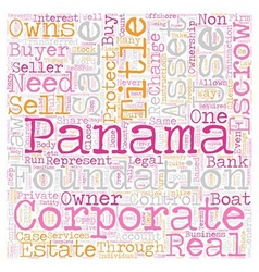 Panama escrow services text background wordcloud vector