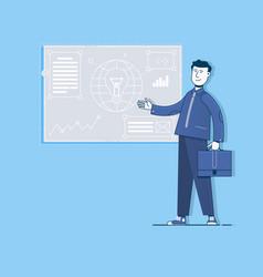 project management digital marketingflat vector image vector image
