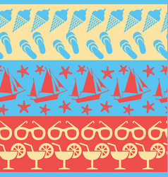 sea and summer seamless borders vector image vector image