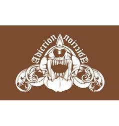 t-shirt design with animal skulls vector image vector image
