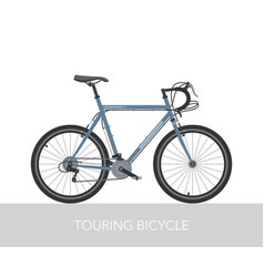 trekking bicycle configuration vector image vector image